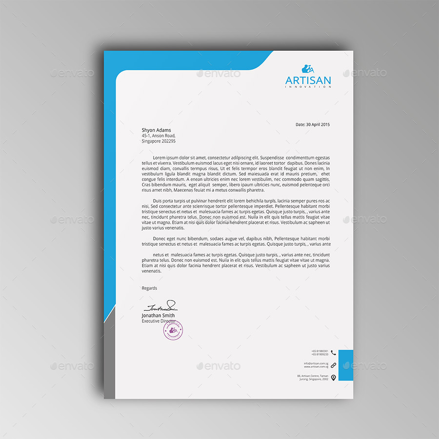 12  free letterhead templates in psd ms word and pdf
