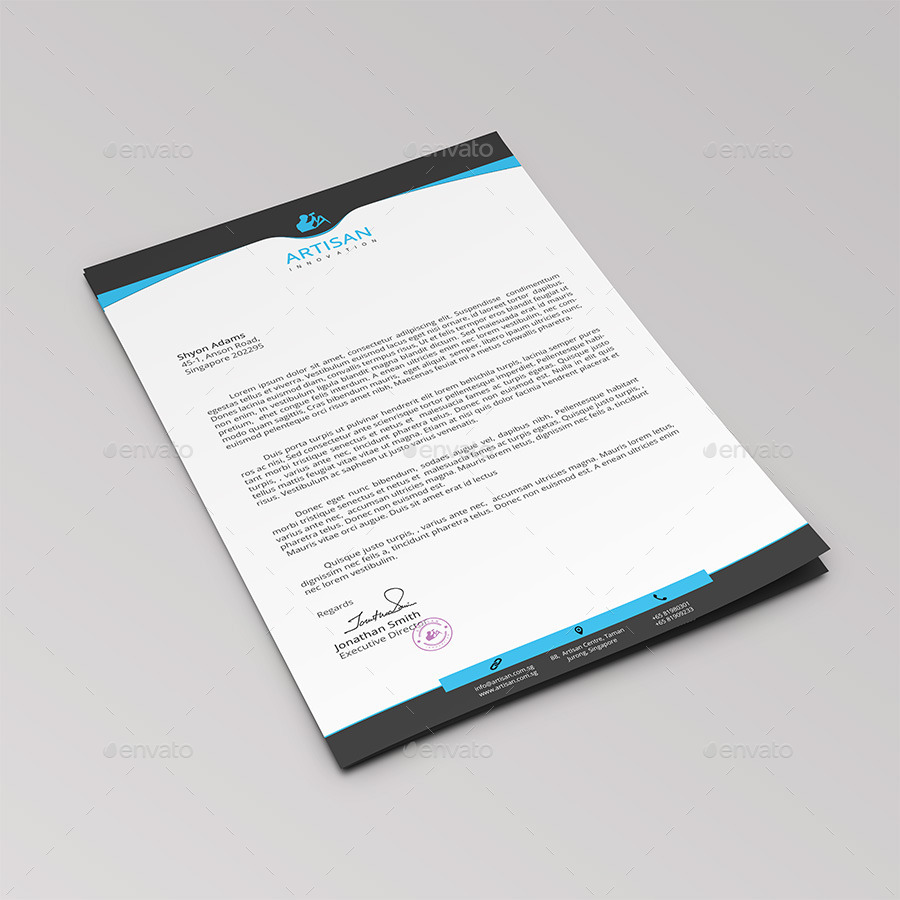 Business Letterhead: 12+ Free Letterhead Templates In PSD MS Word And PDF