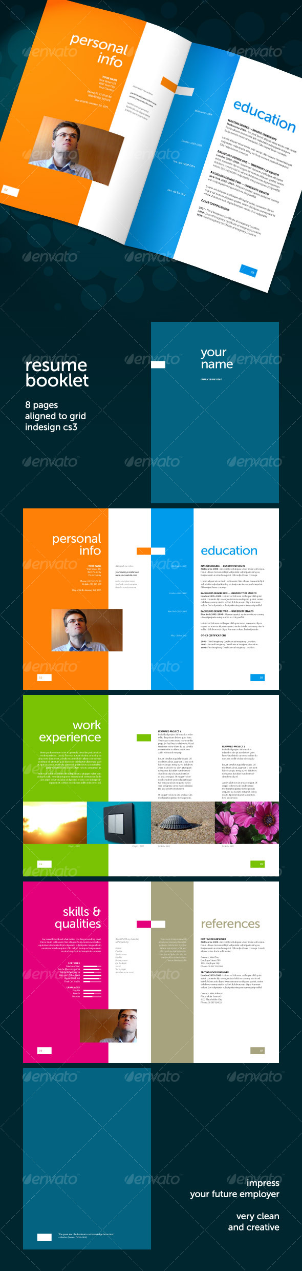 Resume Booklet 8 pages