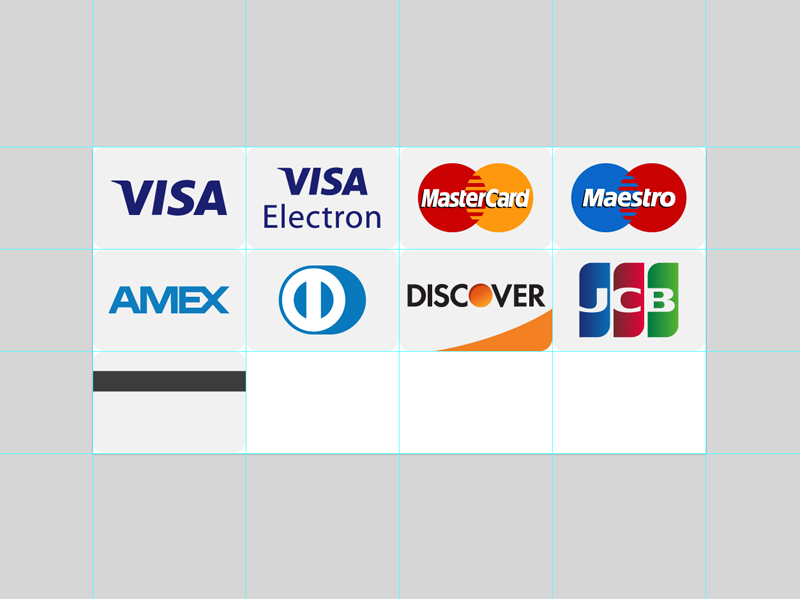 SVG Credit Cards icons