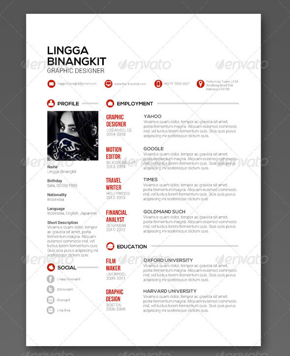 Sewon Clean Resume Template Volume 5