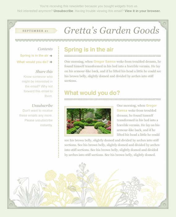 Spring Email Newsletter Template
