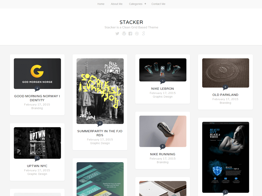 Stacker Lite WordPress Photography Theme