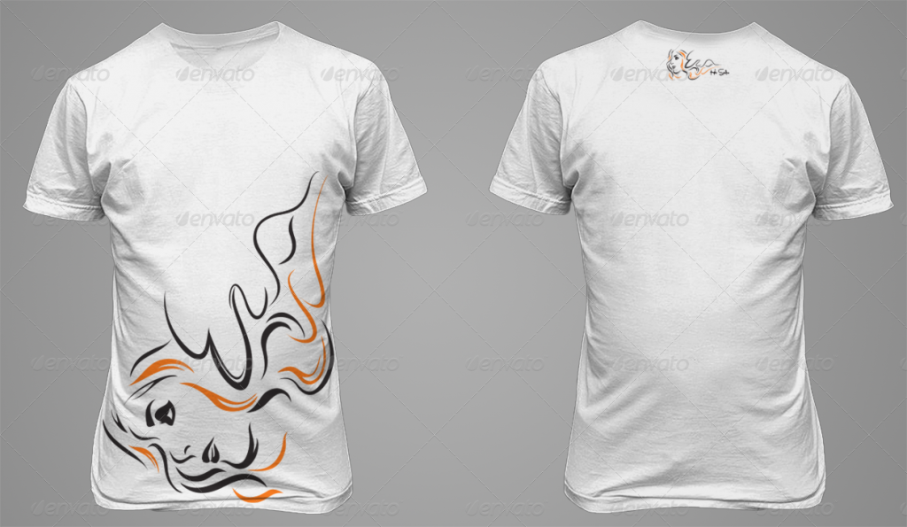 T-Shirt Mockup - Back and Front