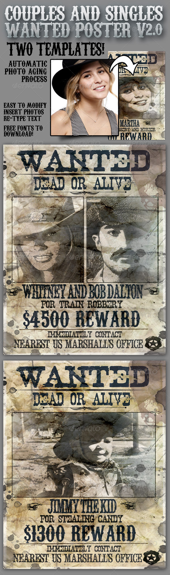 Wanted Poster 8.5x11 for Singles and Couples V2.0