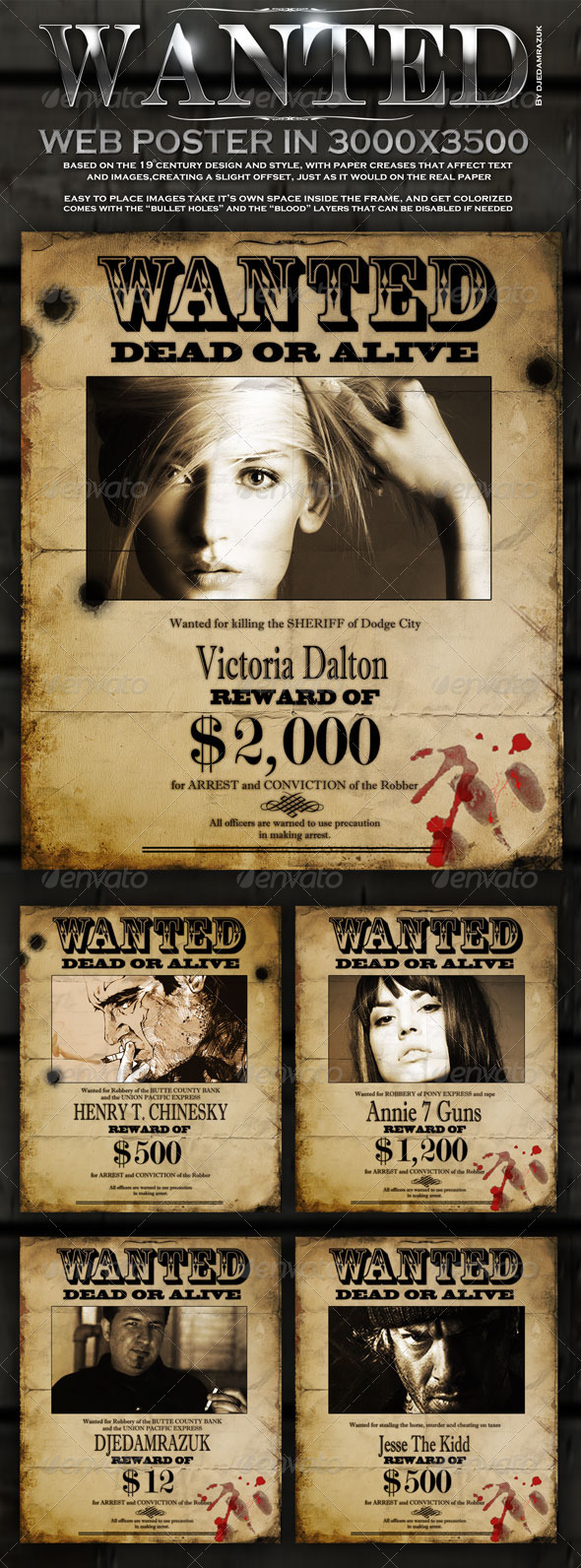 15  best wanted poster templates psd download  u2013 psd