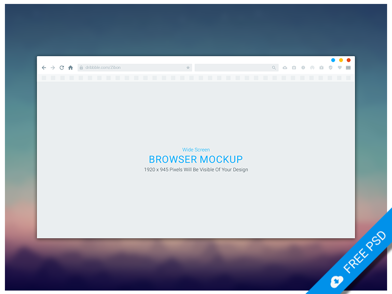 Wide Screen Browser Mockup