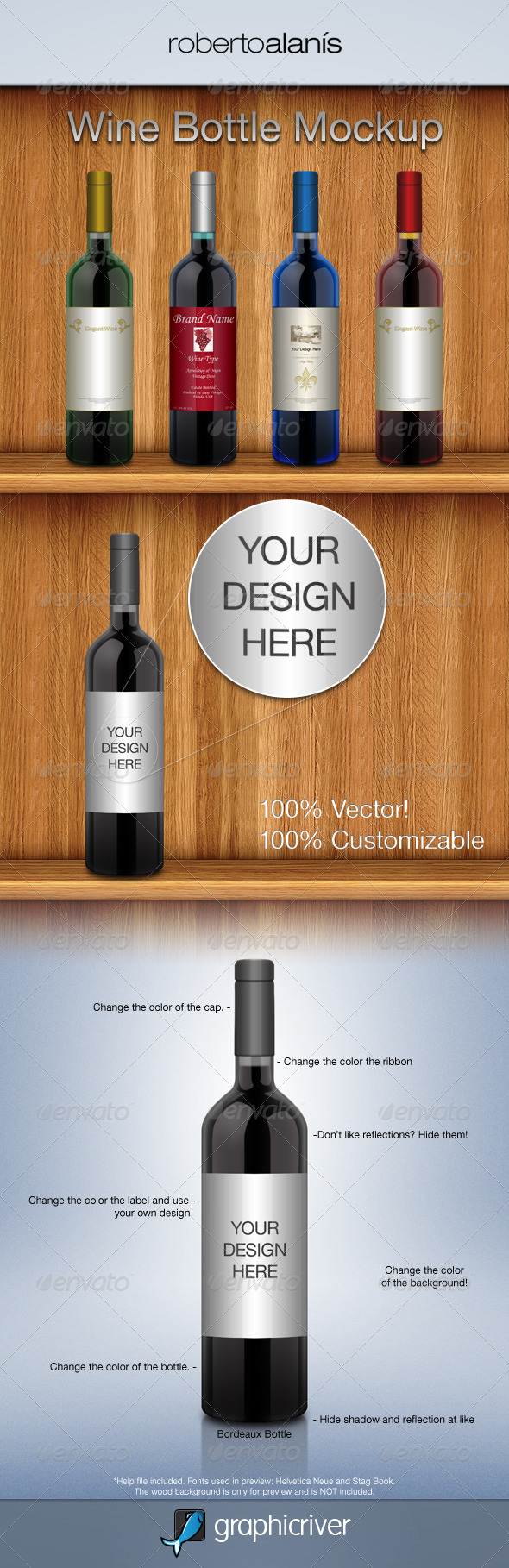 Wine Bottle Mockup