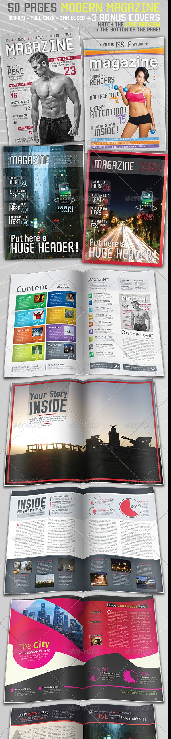 50 Page Magazine Template