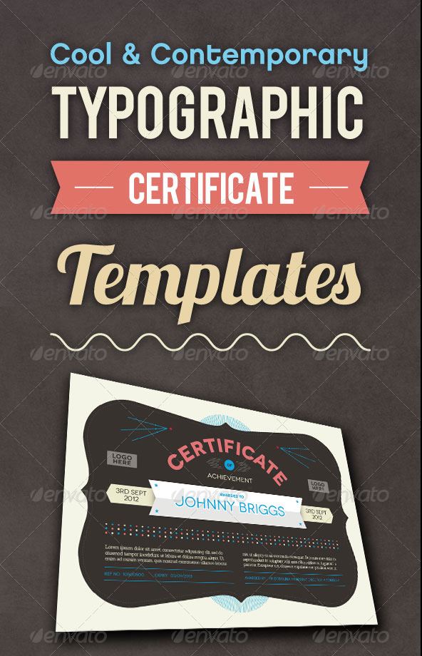 Cool and Contemporary Typographic Certificate Templates