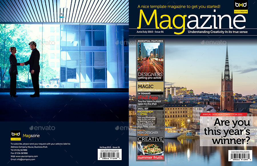 Magazine Template - InDesign 40 Page Layout V1