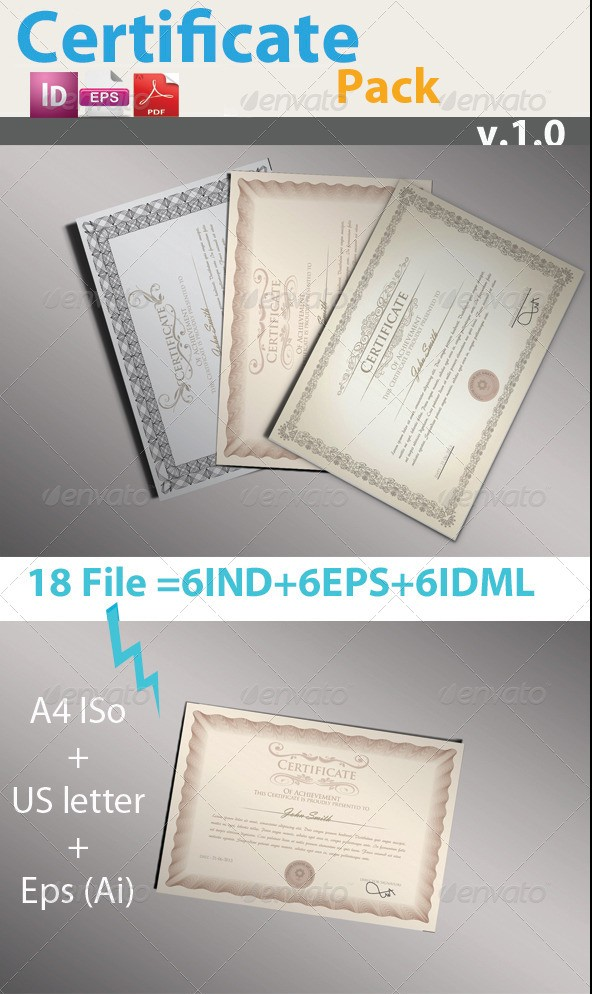 Professional Certificate Templates Pack