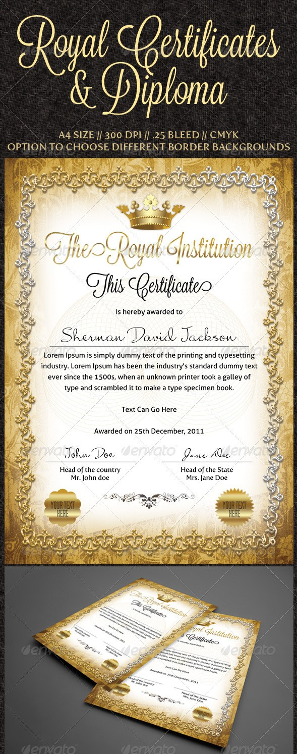 Royal Certificates Templates