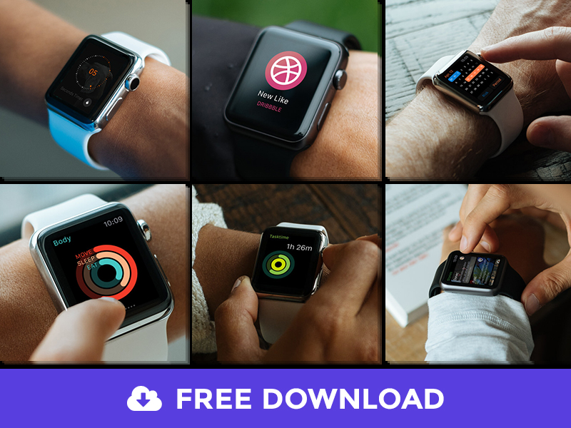 15 Free Apple Watch Psd Mockups
