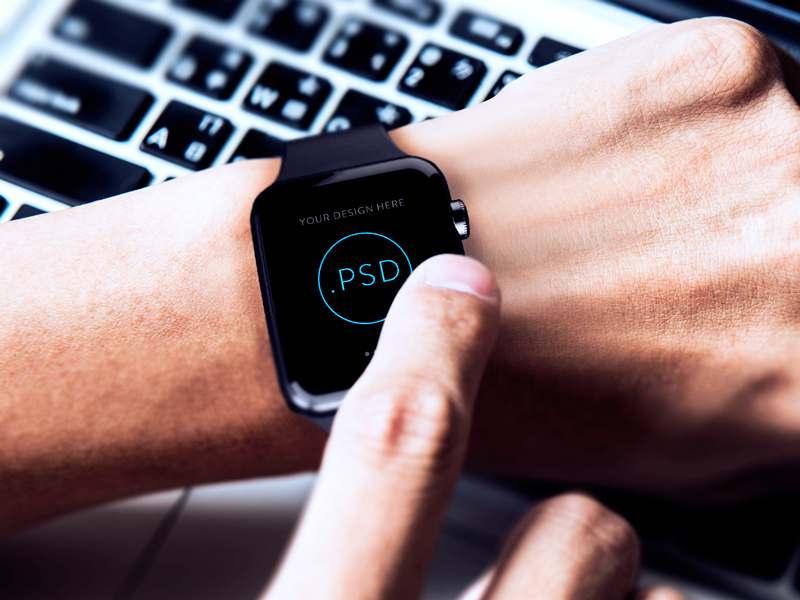 Apple Watch Free Mockup PSD