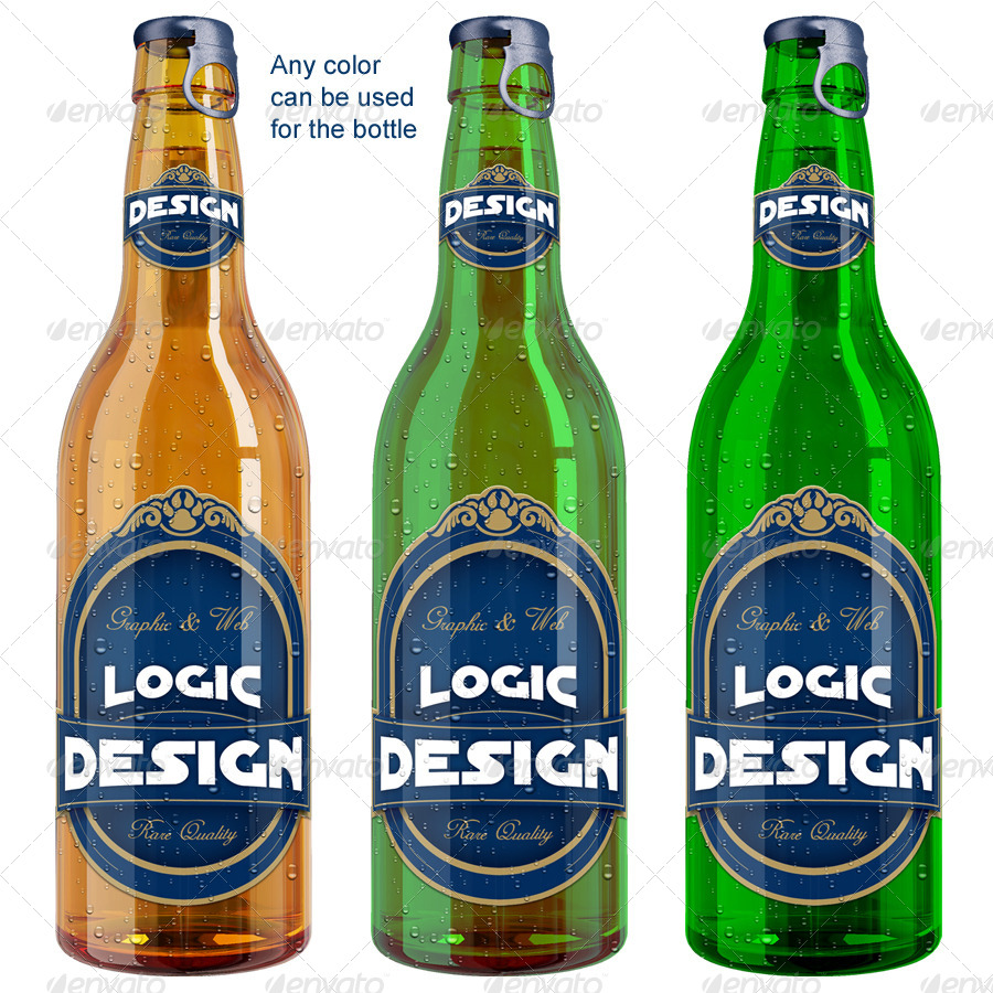 Bottle Beer Mockup