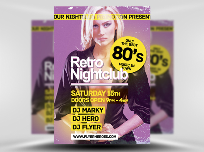 Free Retro Flyer Template