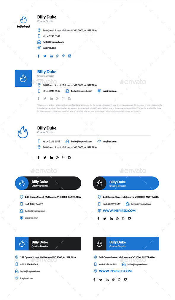 InSpired Email Signature Templates