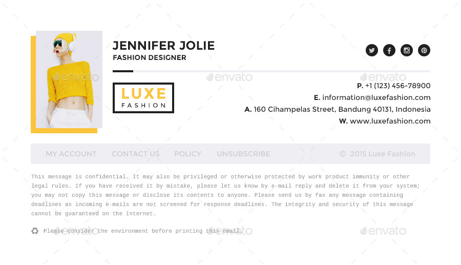 Luxe - E-Mail Signatures
