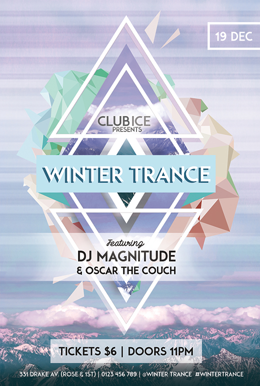 Winter Club Events Flyer Template
