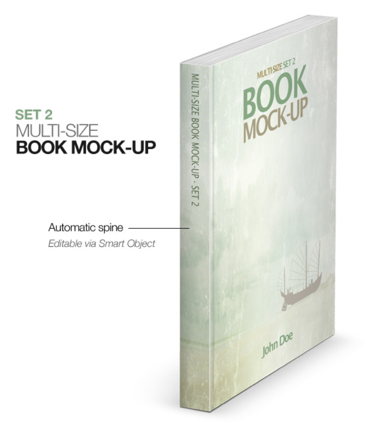 Multi-size Book Mockup - Set 2