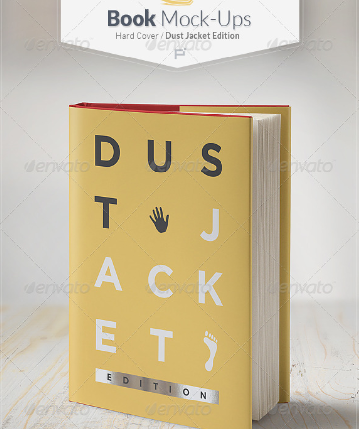 Book Mockup / Dust Jacket Edition