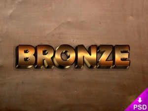Bronze Text Effect for Photoshop