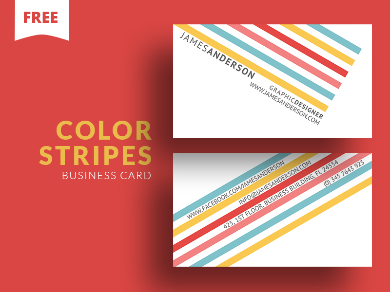 Color Stripes Business Card