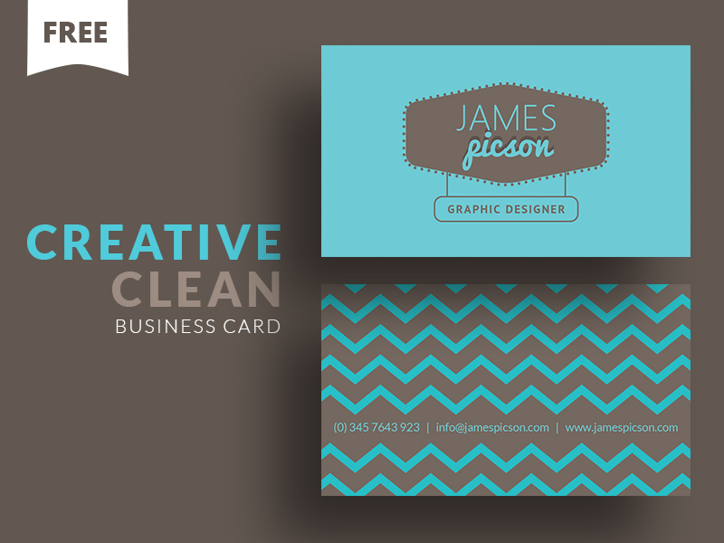Creative Clean Business Card