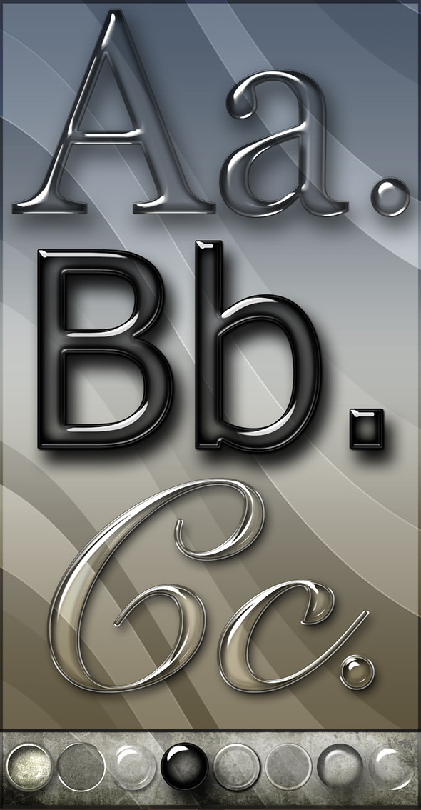 Elegant Glass Text Effects & Styles