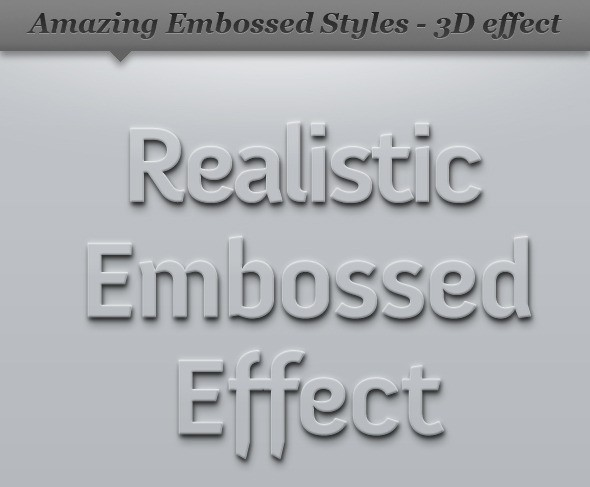 Embossed Style Effect - 3D Clean Shadow