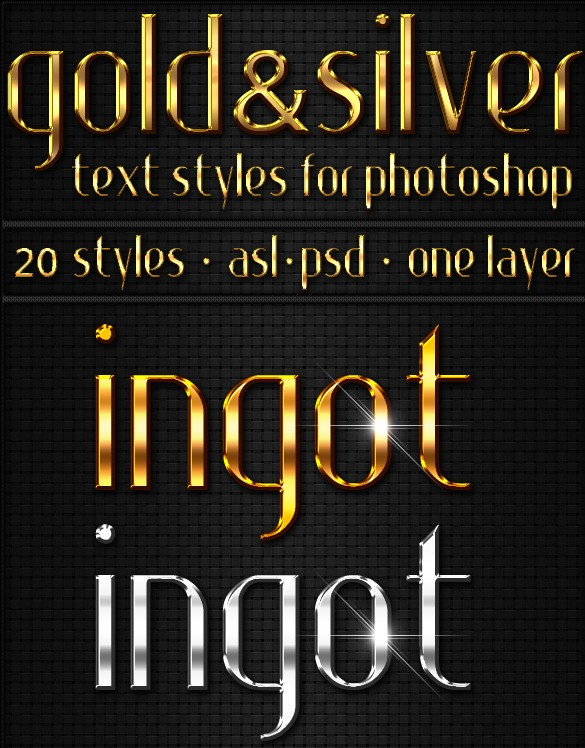 Gold & Silver - Text Styles
