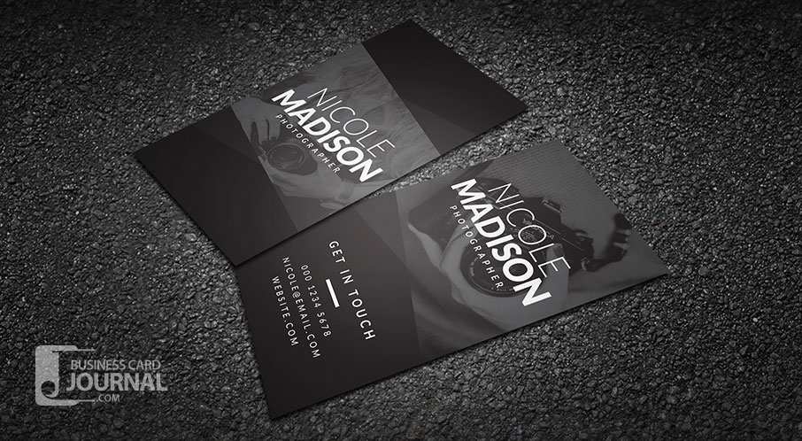 Modern Minimal Photographer Business Card Template