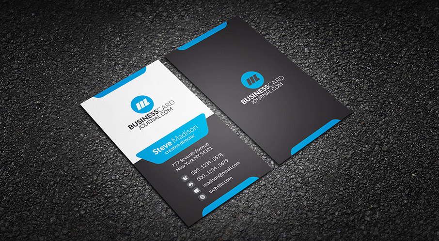 Modern Stylish Blue Corporate Business Card Template