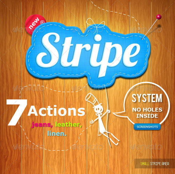 Stitched Stripe Actions