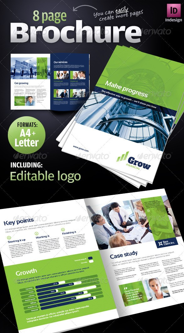 8 pages Corporate Business Brochure