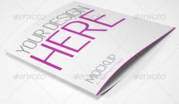 A4 Brochure/Folder Mock-up