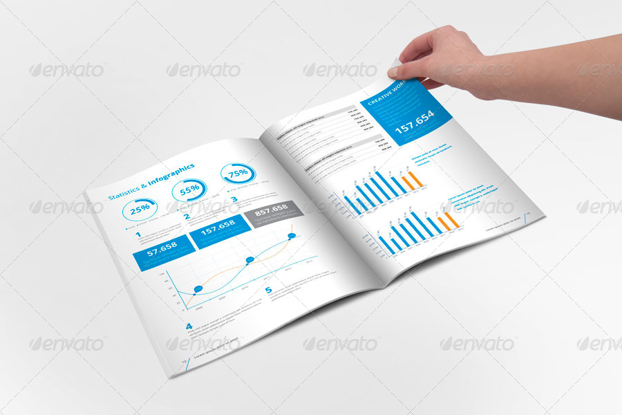 Indesign Annual Report Templates For Corporate Businesses