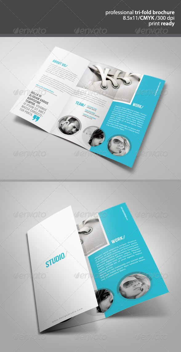 Clean Tri-Fold Brochure Template