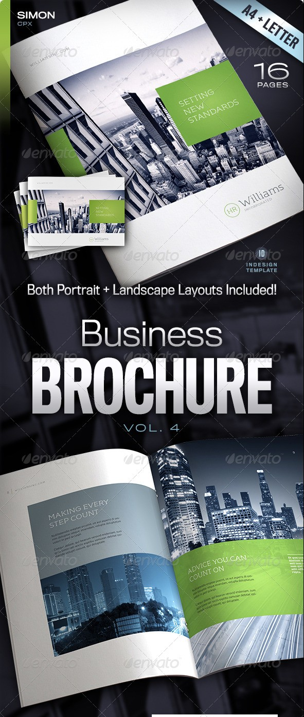 Corporate Business Brochure 16 pages A4 and Letter