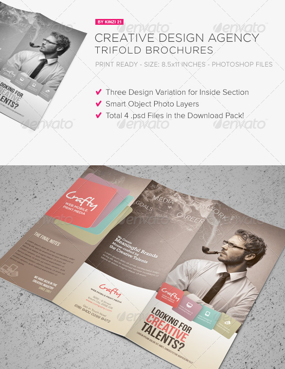 Creative Design Agency Tri-Fold Brochure
