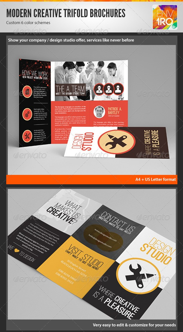 Creative Multipurpose Tri-Fold Brochures Templates