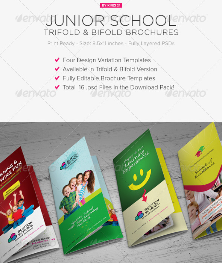 Junior School Tri-Fold & Bi-Fold Brochures
