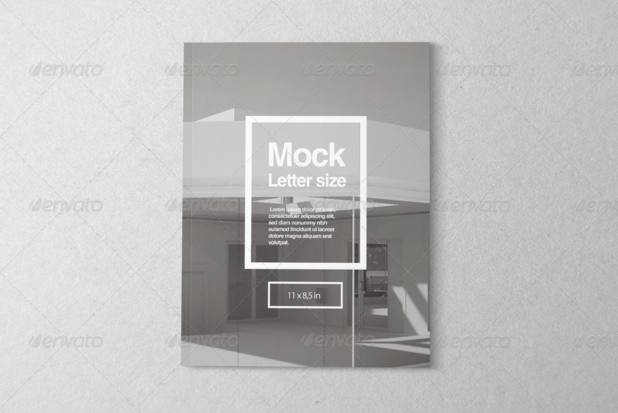 Letter Magazine Mock-up