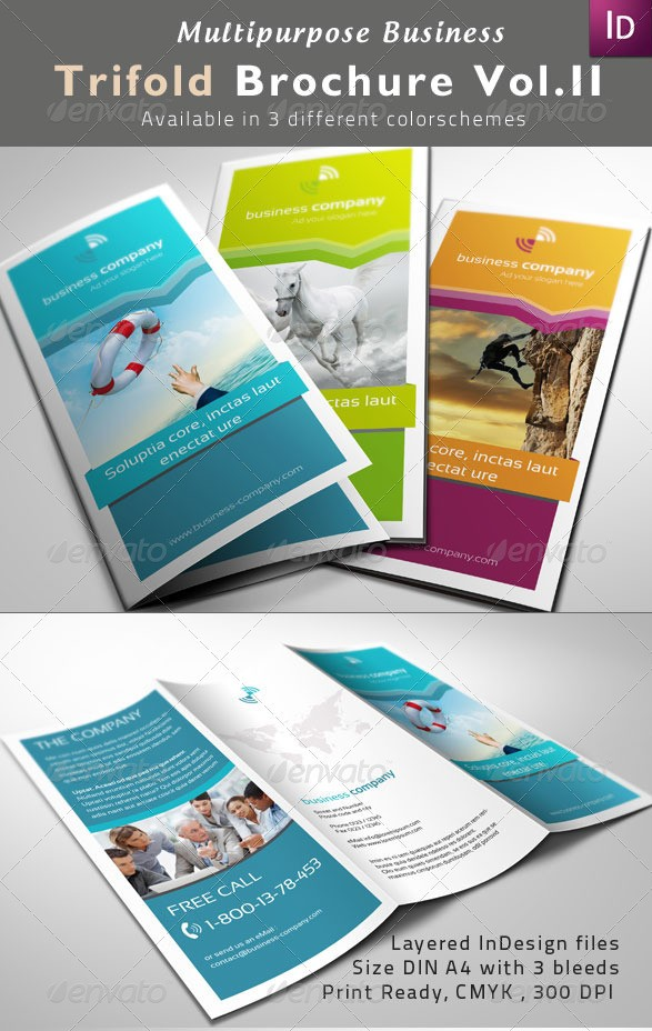 Multipurpose Tri-Fold Brochures Vol. II