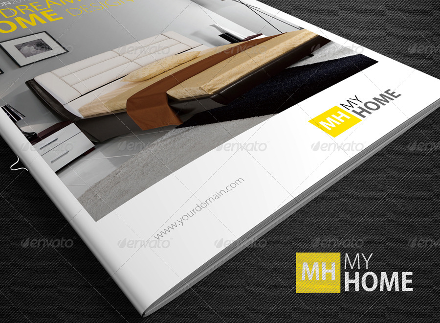 Photorealistic A4 Magazine Mock-Up