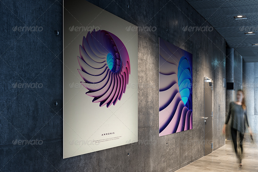 Photorealistic Gallery Poster Mockup Vol. 2