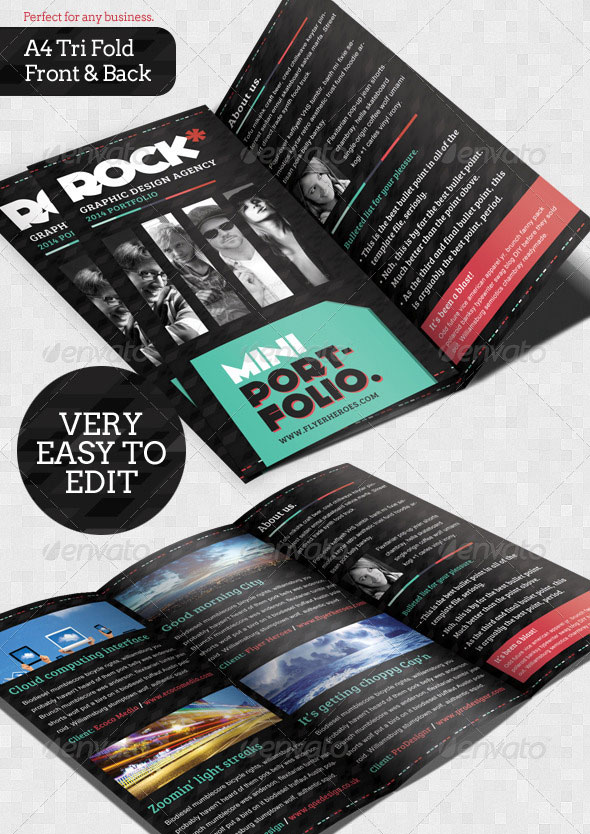 Rock Brochure Template