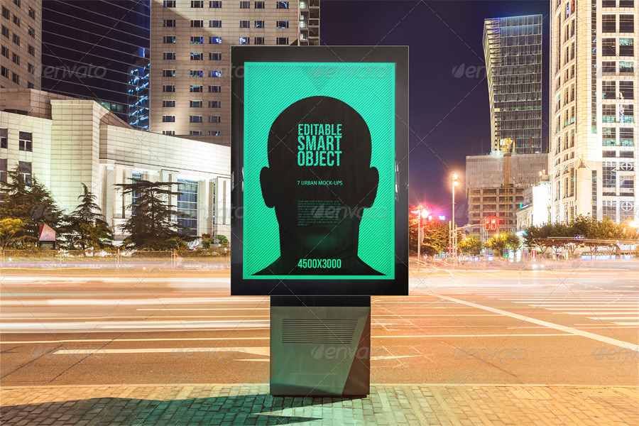 Urban Poster / Billboard Mock-ups - Night Edition