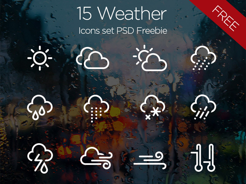 Free PSD Weather Icons Set